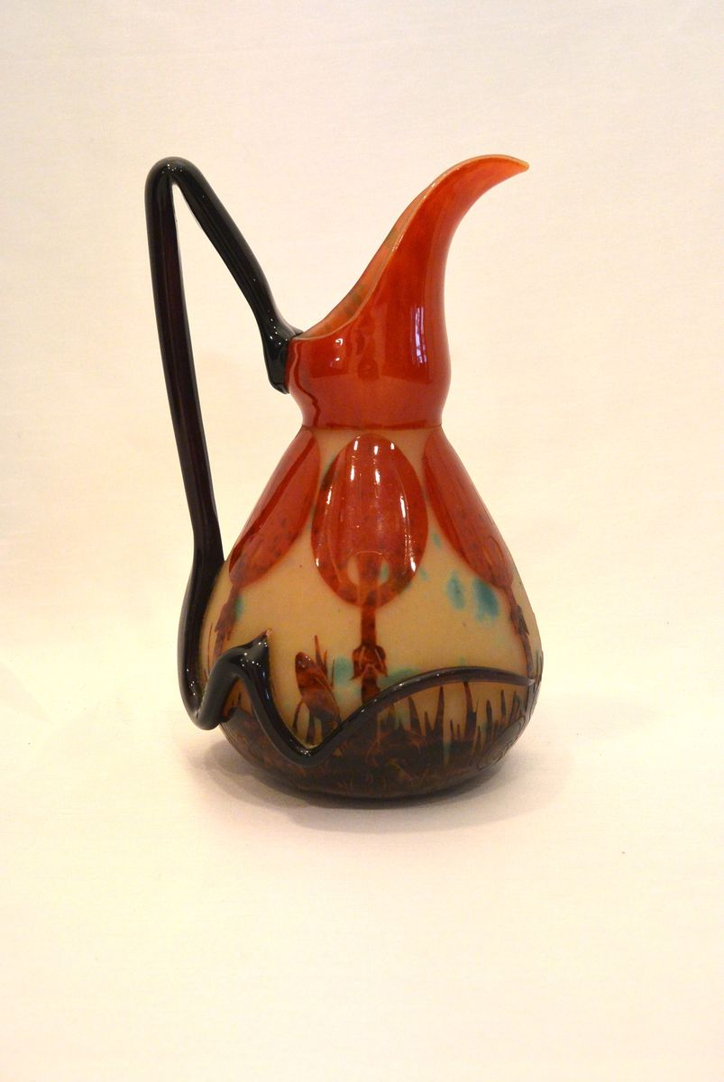 Coprins pitcher by charles schneider for le verre fran ais for Gel a depolir le verre