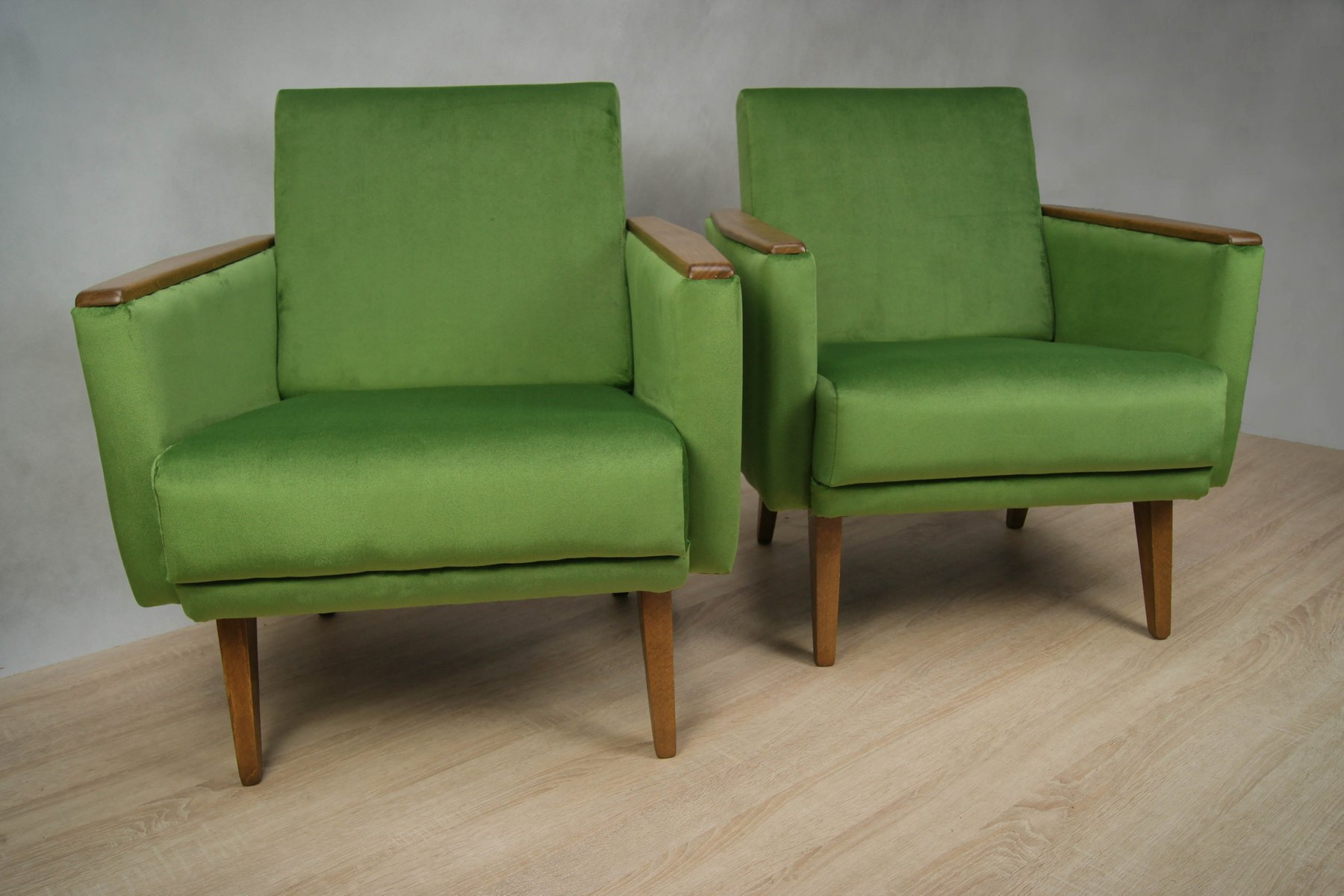 German green armchairs 1960s set of 2 for sale at pamono for 2 armchairs for sale