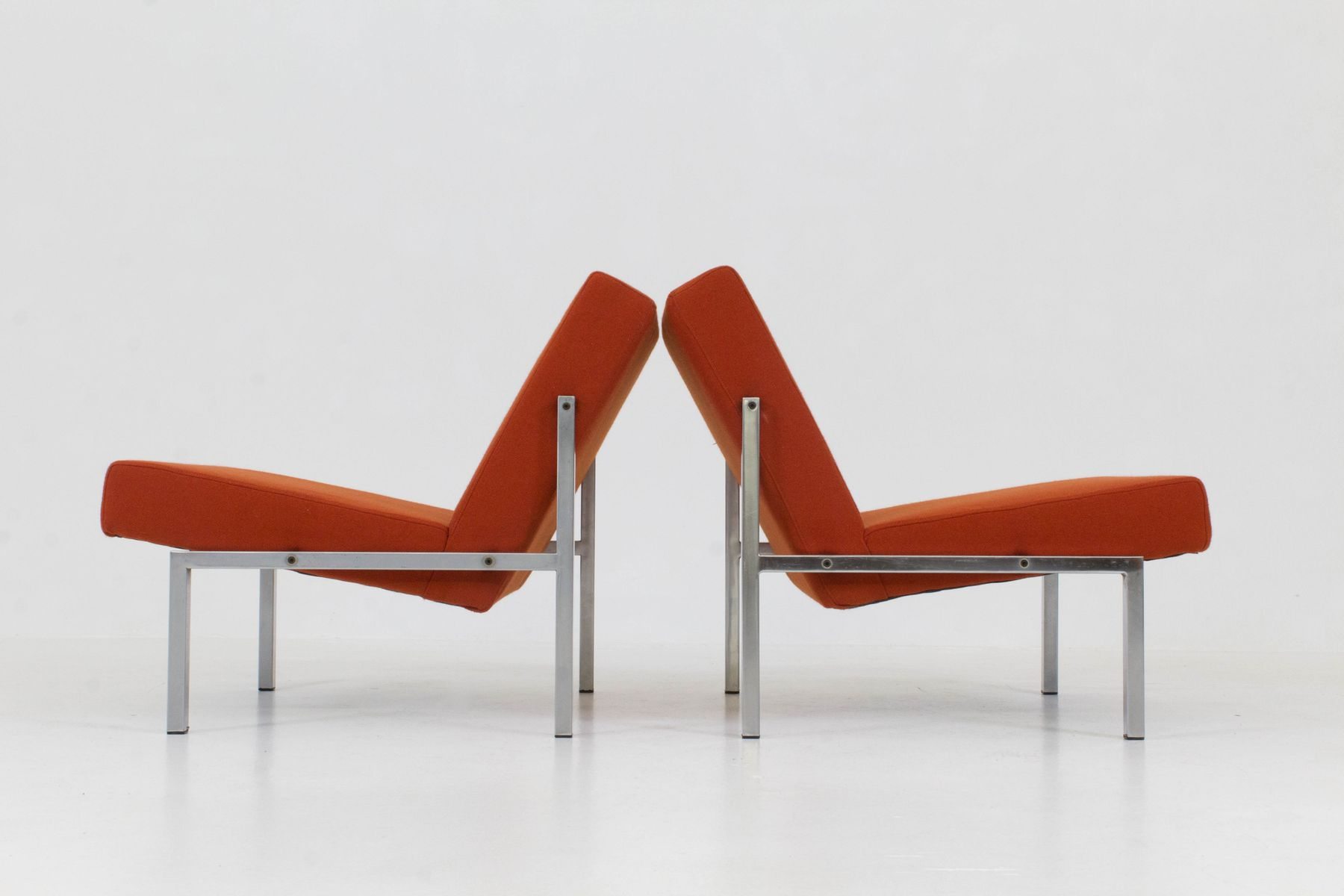 Mid Century Modern Dutch Lounge Chairs by Martin Visser for t