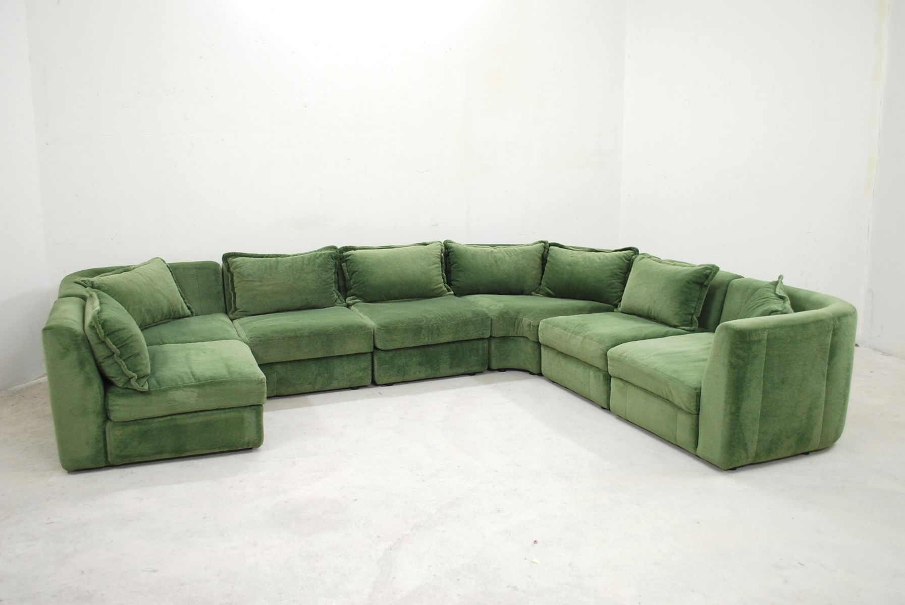 vintage green modular sofa from rolf benz for sale at pamono. Black Bedroom Furniture Sets. Home Design Ideas