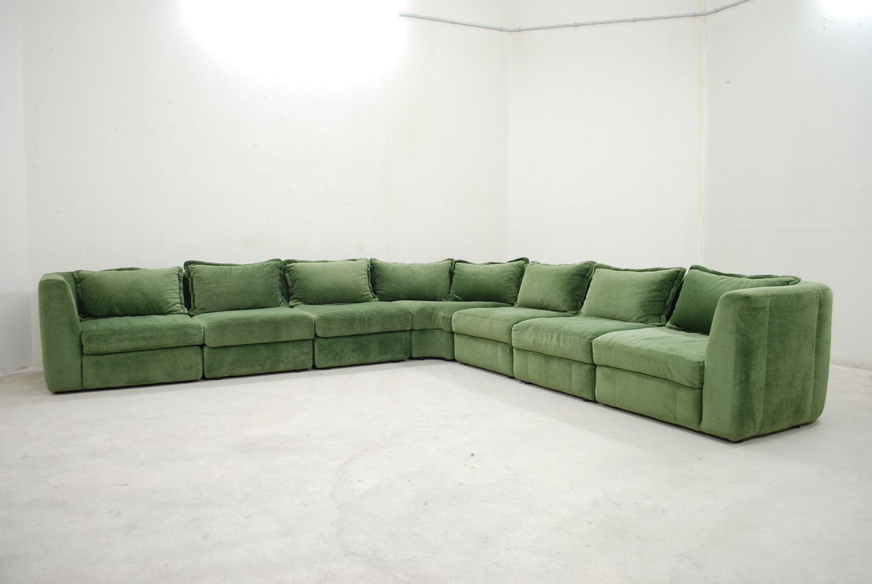 Vintage green modular sofa from rolf benz for sale at pamono for Q couch modular sofa