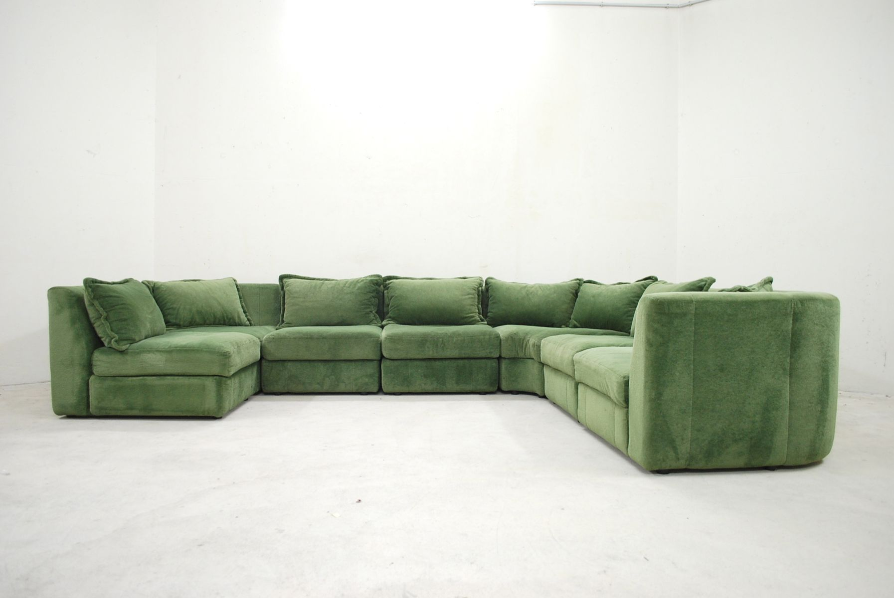 modulares vintage sofa in gr n von rolf benz bei pamono kaufen. Black Bedroom Furniture Sets. Home Design Ideas