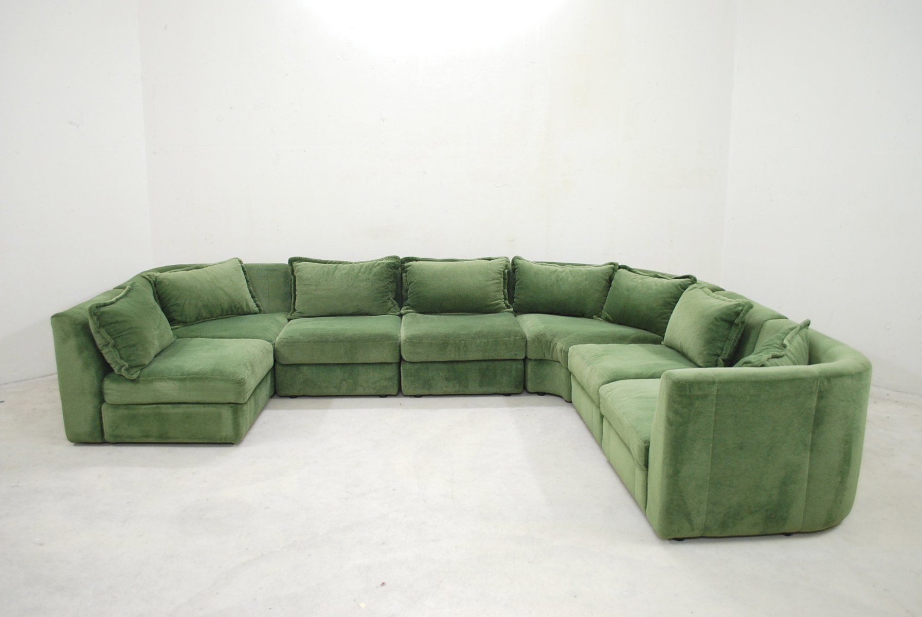 Vintage green modular sofa from rolf benz for sale at pamono for Sofa benz rolf