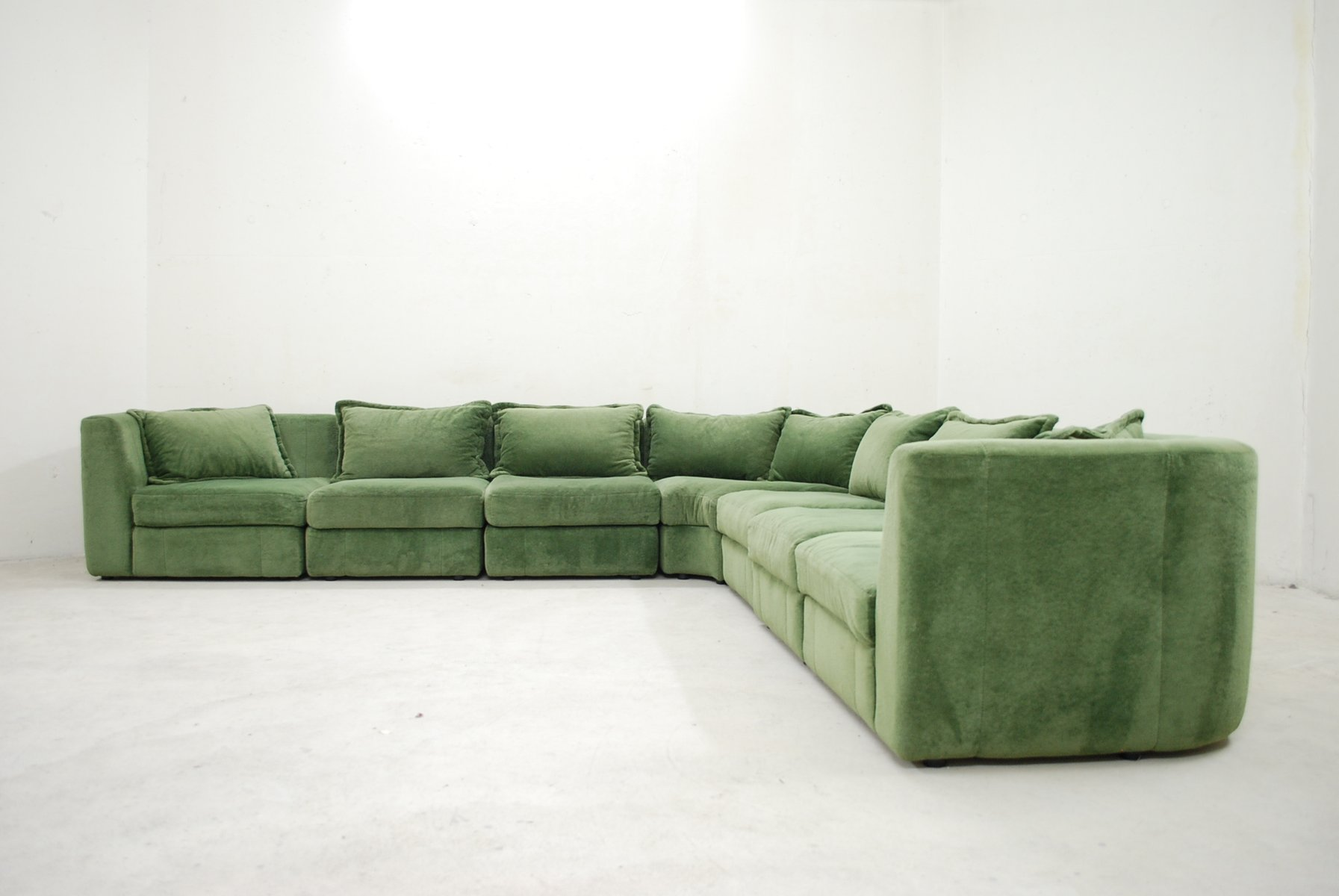 Vintage Green Modular Sofa From Rolf Benz For Sale At Pamono