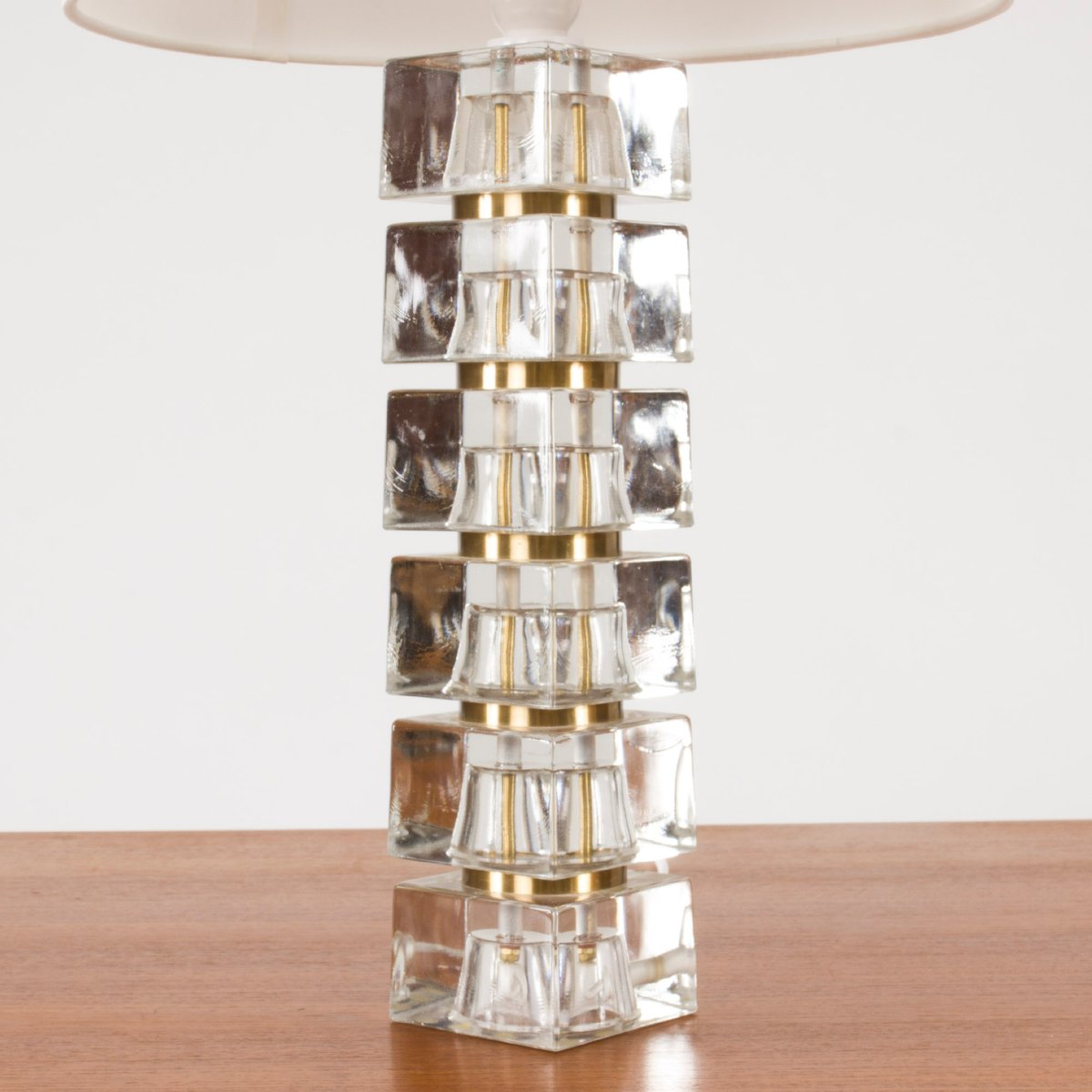 Swedish Glass Base Table Lamp 1960s For Sale At Pamono