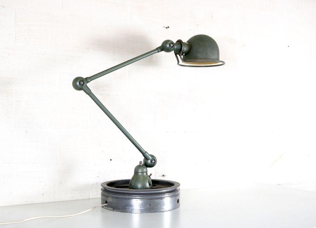 Vintage french industrial table lamp by jielde for sale at for Table haute industrielle