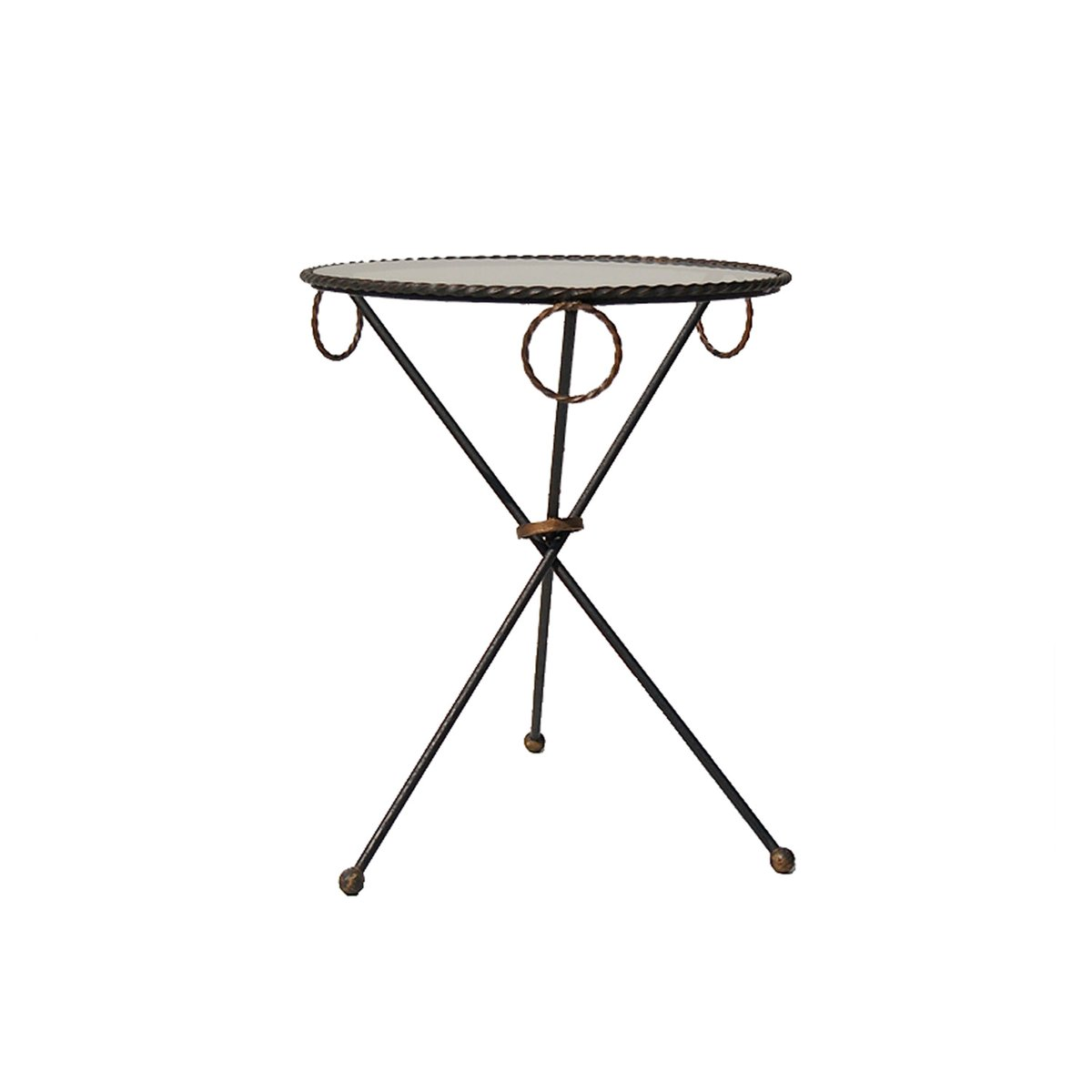 vintage french tripod side table for sale at pamono. Black Bedroom Furniture Sets. Home Design Ideas