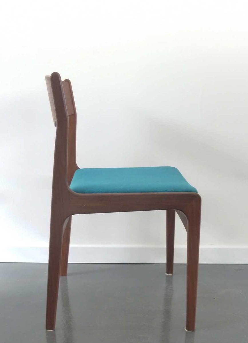 Teal Chair Danish Chair With Teal Upholstery 1950s For Sale At Pamono