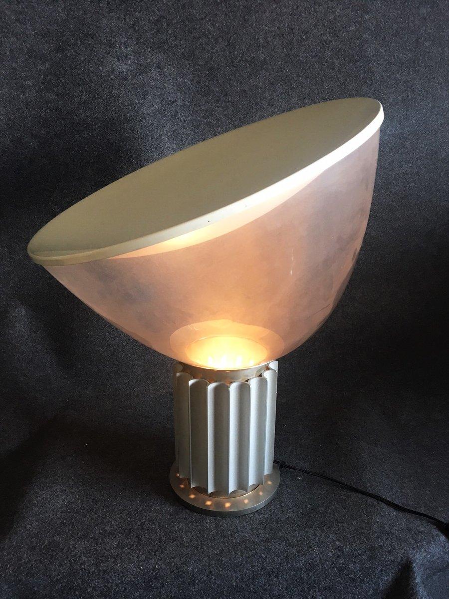 vintage taccia lamp by achillle pier giacomo castiglioni for flos for sale at pamono. Black Bedroom Furniture Sets. Home Design Ideas