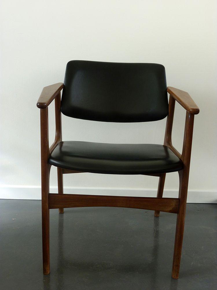 Mid century armlehnstuhl aus kunstleder bei pamono kaufen for Armlehnstuhl kunstleder