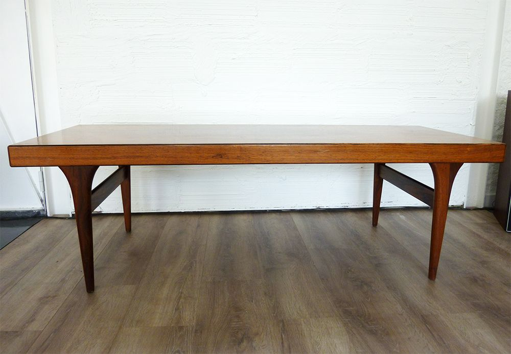 Mid century extensible coffee table by johannes andersen for silkeborg m belf - Table extensible exterieur ...