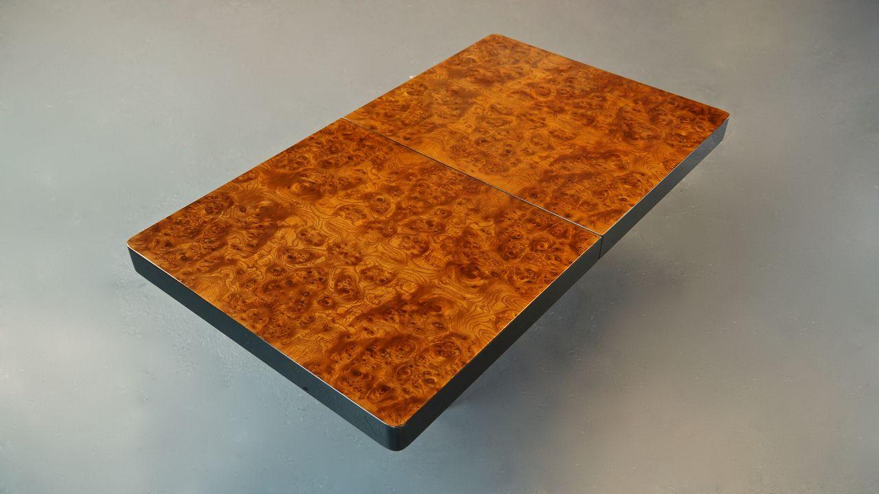 table basse vintage en broussin par willy rizzo italie en vente sur pamono. Black Bedroom Furniture Sets. Home Design Ideas