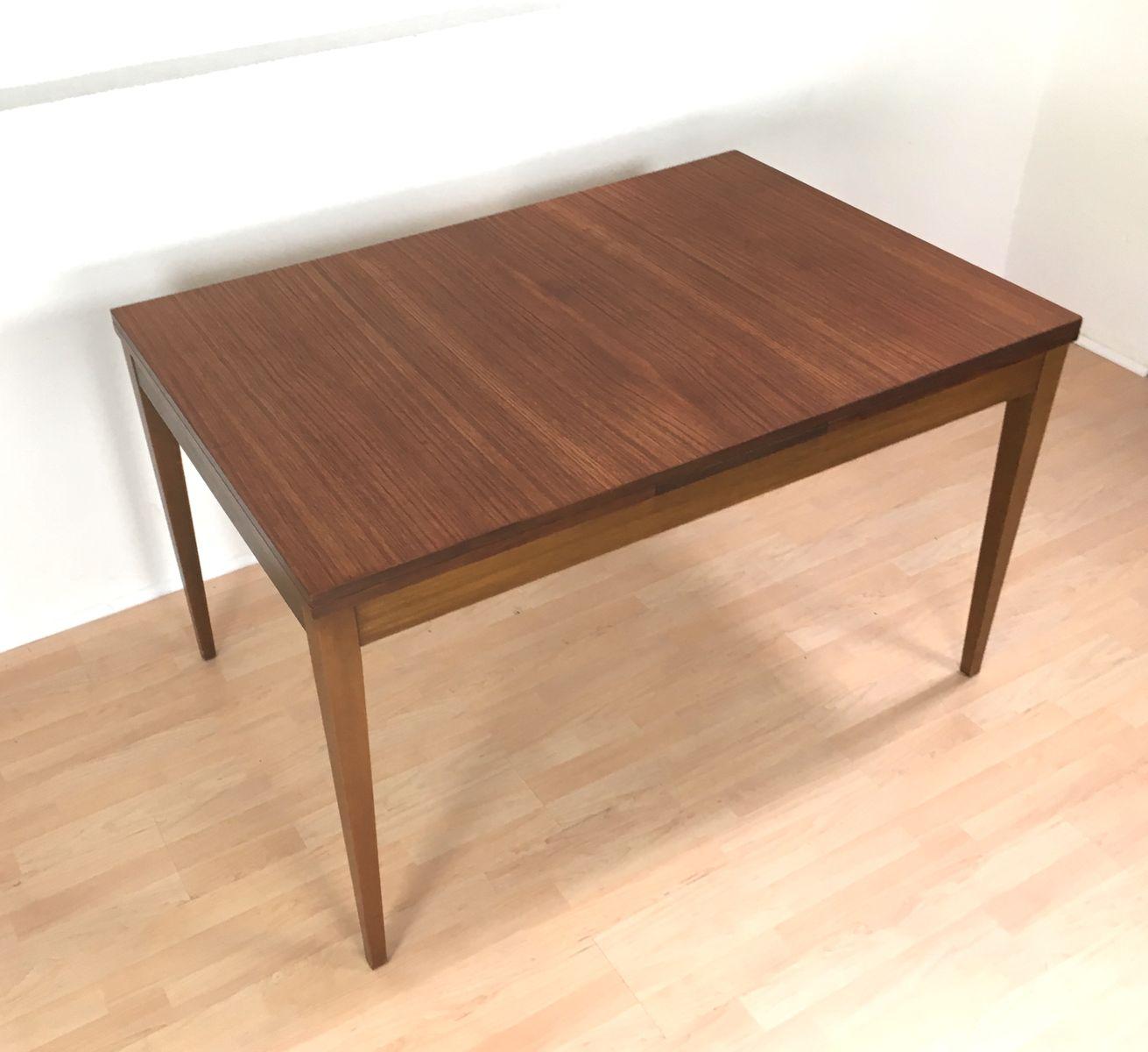 ausziehbarer mid century esstisch von l bke 1960er bei pamono kaufen. Black Bedroom Furniture Sets. Home Design Ideas