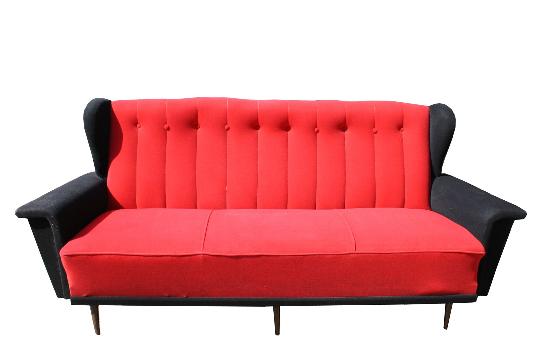 Red And Black Sofas Red And Black Sofa 75 With Jinanhongyu  : vintage red black sofa 1950s 1 from thesofa.droogkast.com size 1837 x 1200 jpeg 87kB
