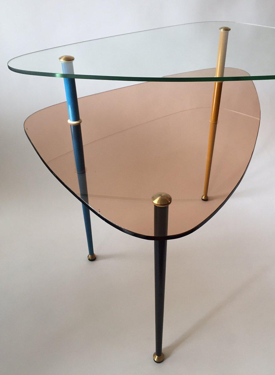 Italian Vintage Side Table by Edoardo Paoli for Vitrex 1950s for