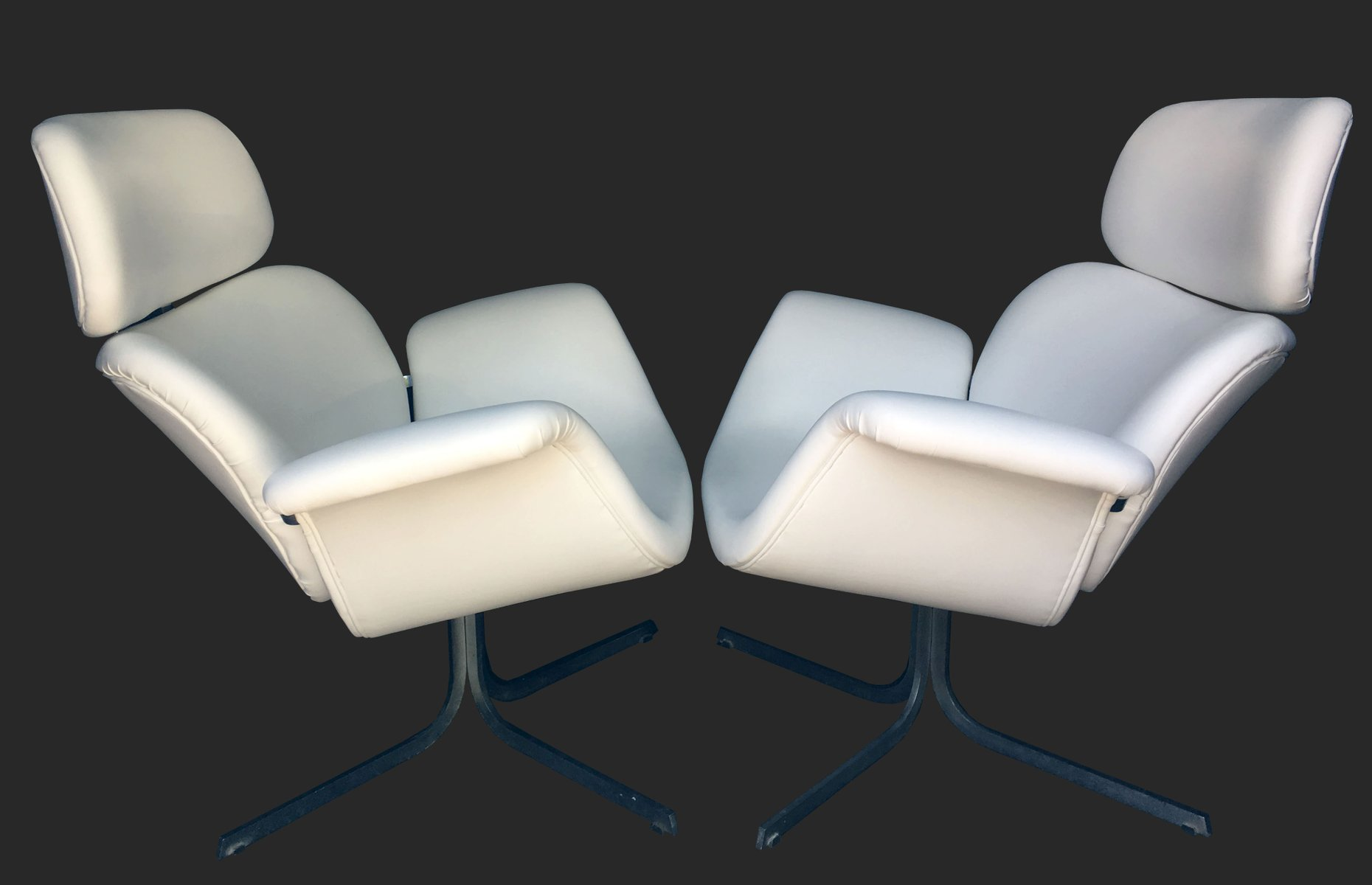 F545 large tulip lounge chairs by pierre paulin for artifort set of 2 for sale at pamono - Tulip chairs for sale ...