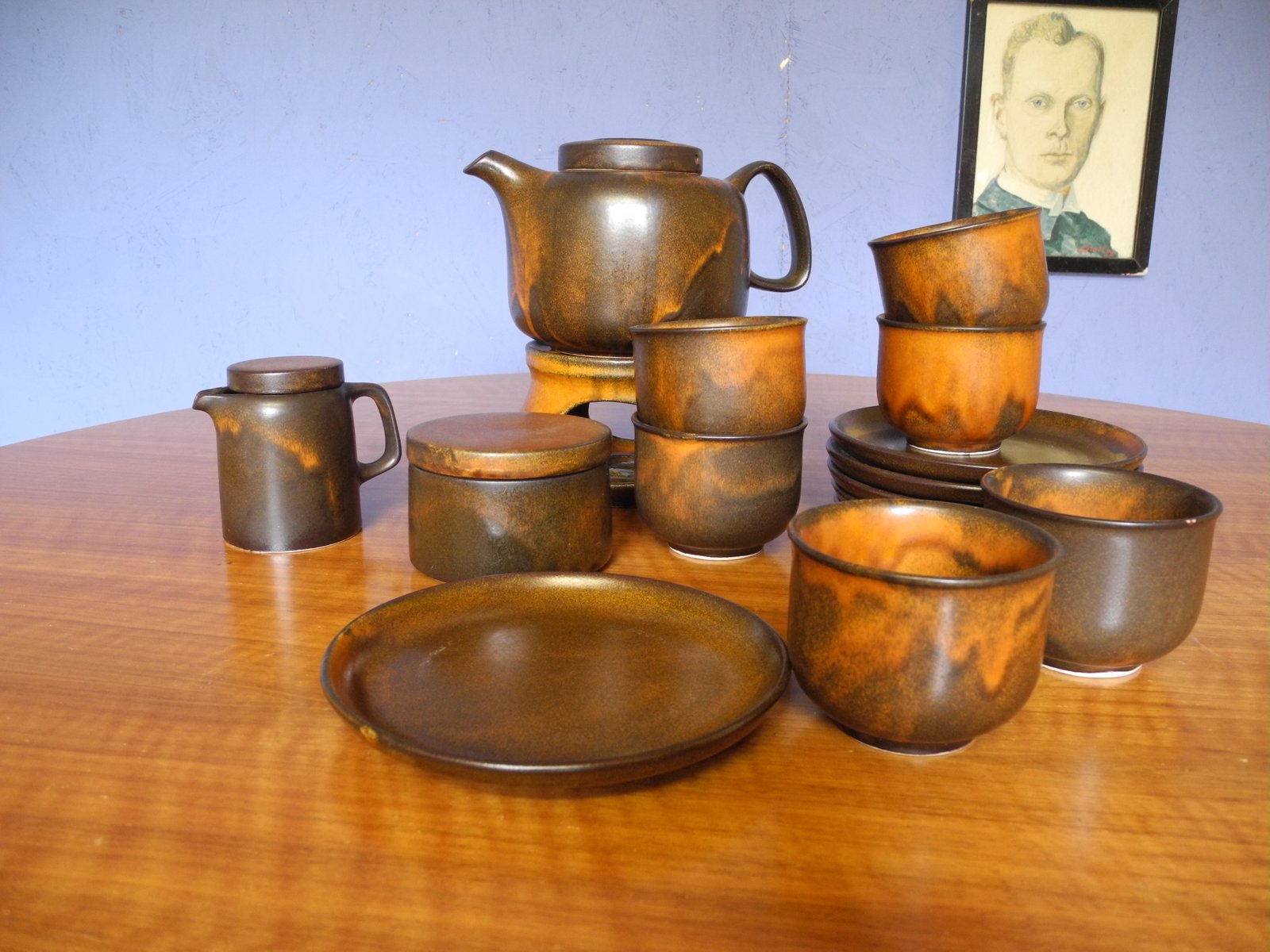 Brutalist Coffee Set from Heisterholz Keramik 1970s for