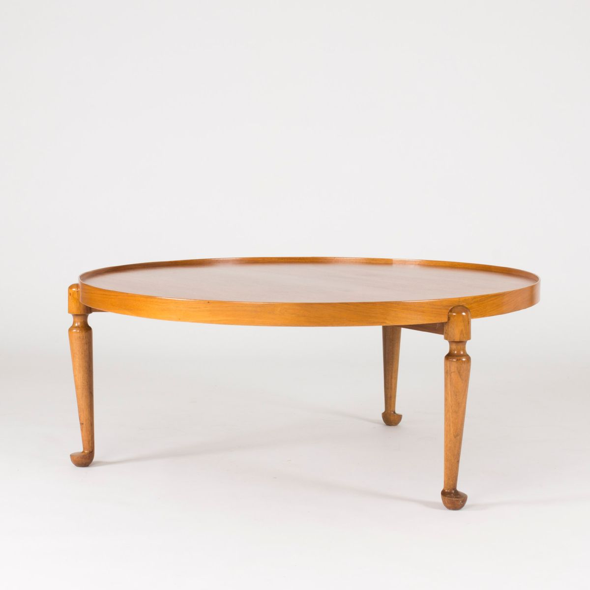 Mid Century Swedish Round Walnut Coffee Table By Josef Frank For Svenskt Tenn For Sale At Pamono