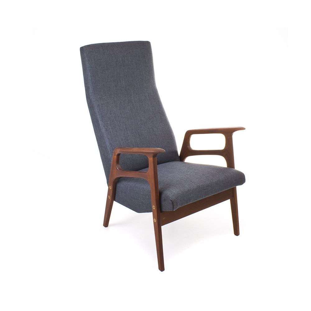 Vintage mid century danish lounge chair for sale at pamono for Classic mid century chairs