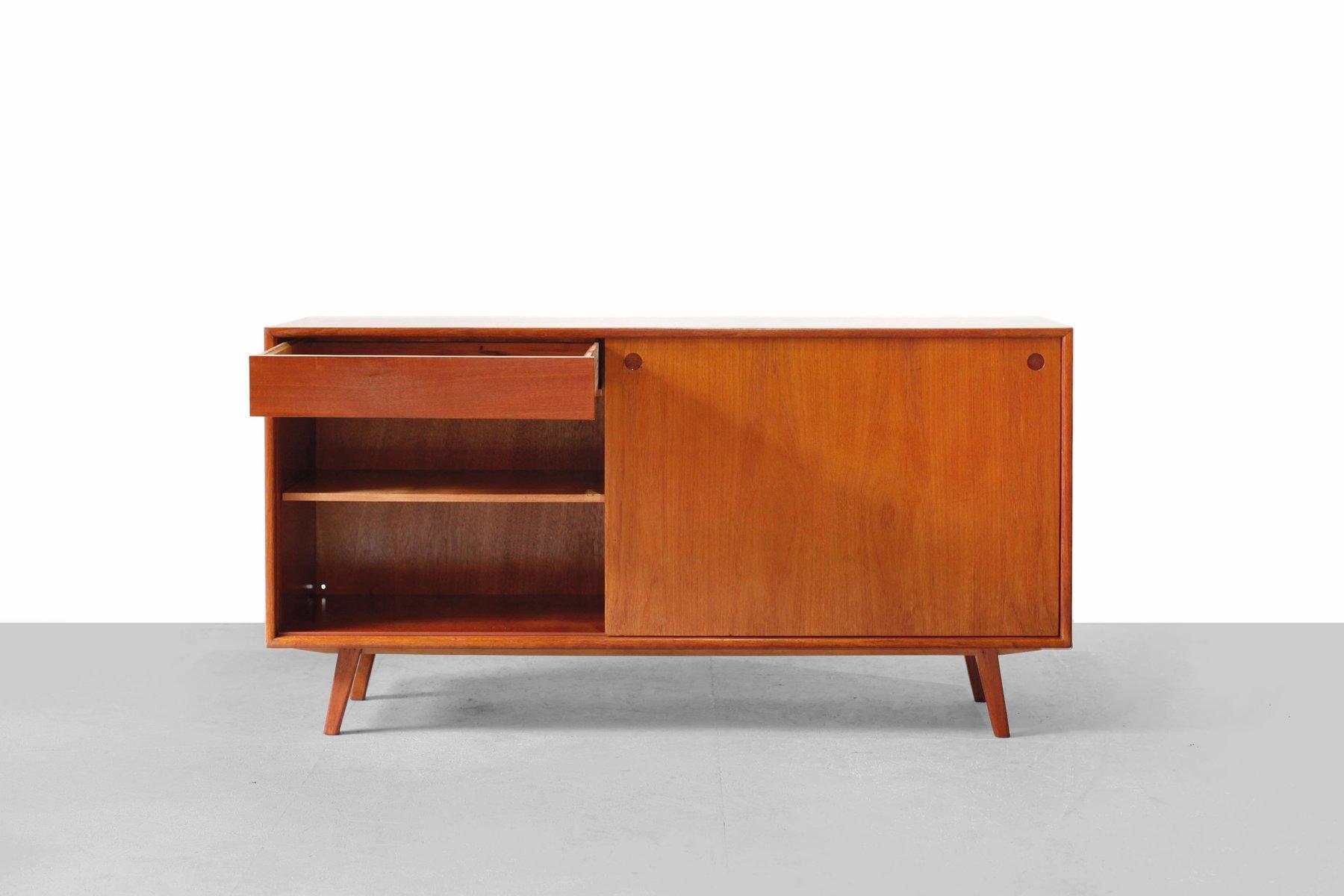 mid century german walnut veneer sideboard 1950s for sale. Black Bedroom Furniture Sets. Home Design Ideas