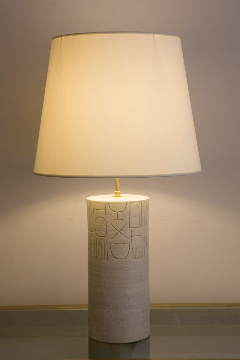 lampe en c ramique vernie par bruno gambone 1980s en vente sur pamono. Black Bedroom Furniture Sets. Home Design Ideas