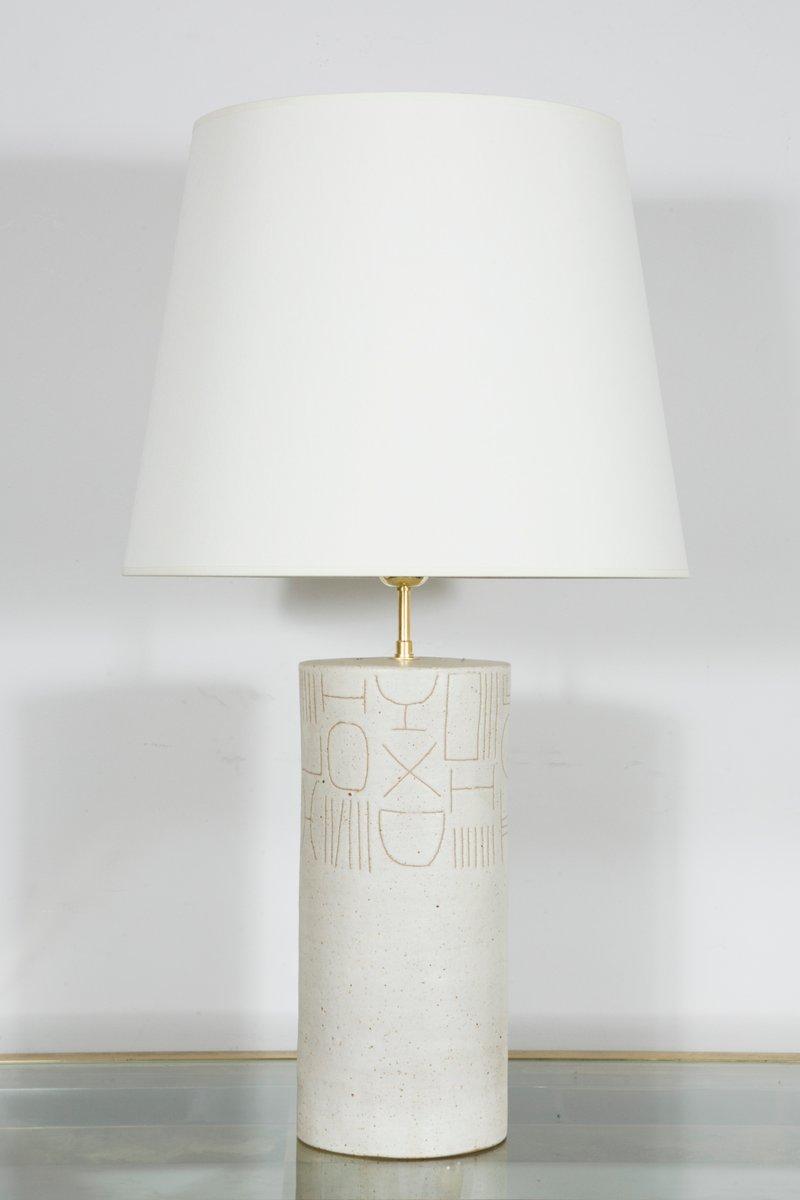 lampe en c ramique vernie par bruno gambone 1980s en. Black Bedroom Furniture Sets. Home Design Ideas