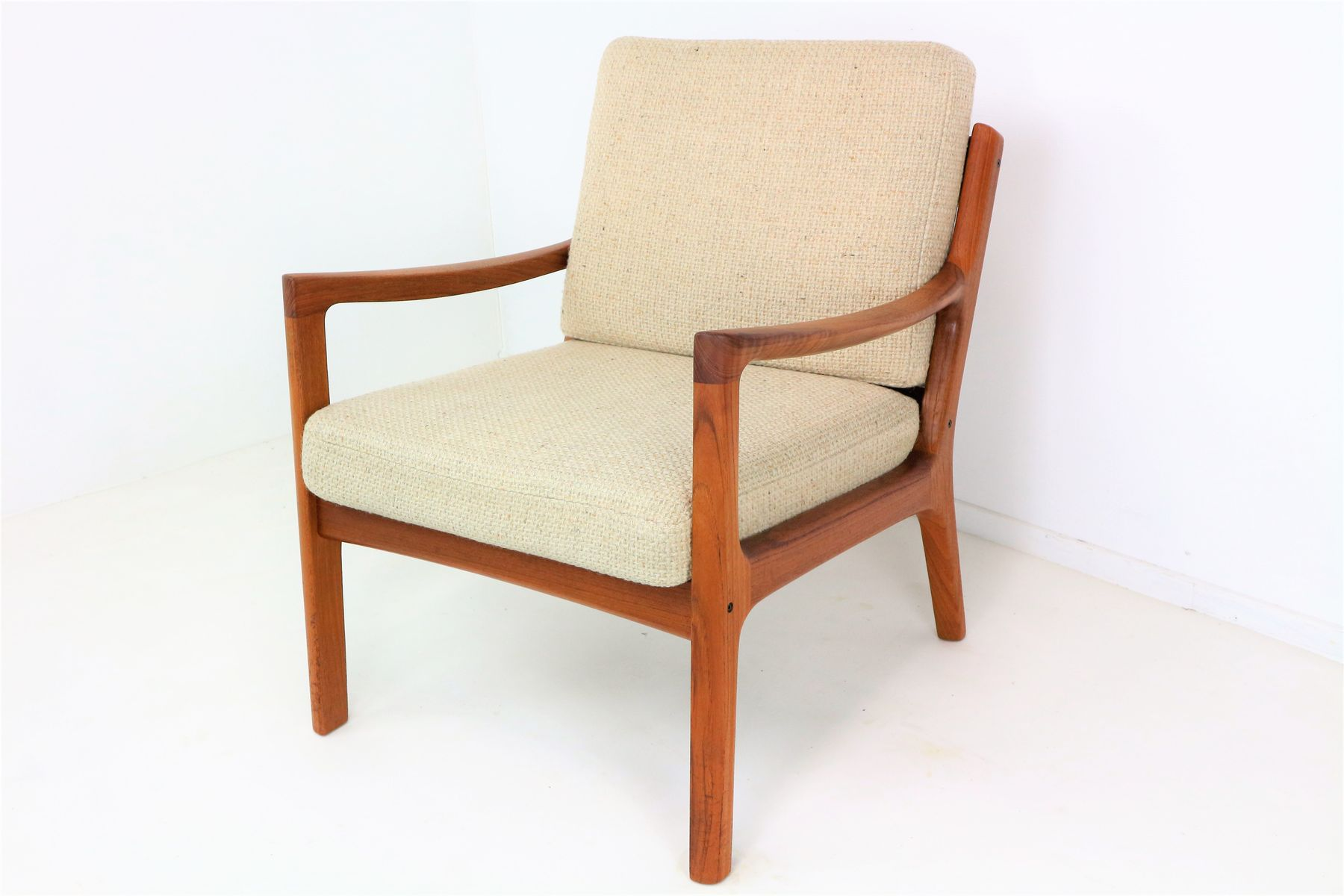 Vintage Senator Lounge Chair in Teak by Ole Wanscher for France