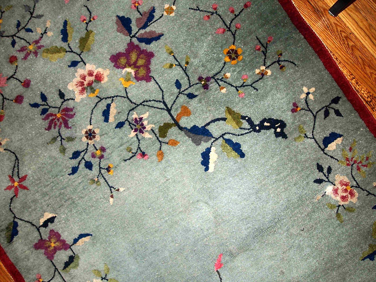 Handgemachter Chinesischer Art Deco Teppich, 1920er bei