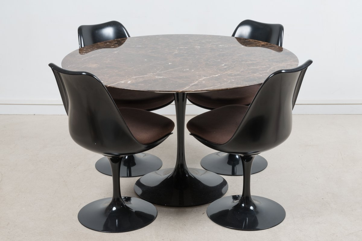 marble tulip dining table by eero saarinen for knoll