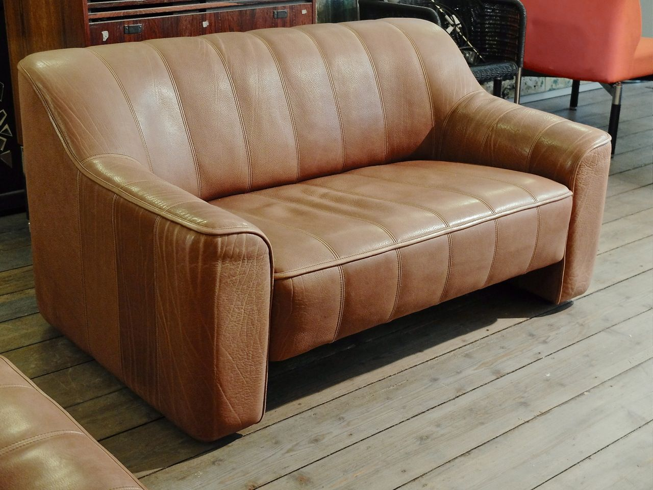 vintage swiss ds 44 2 seater sofa from de sede for sale at pamono. Black Bedroom Furniture Sets. Home Design Ideas