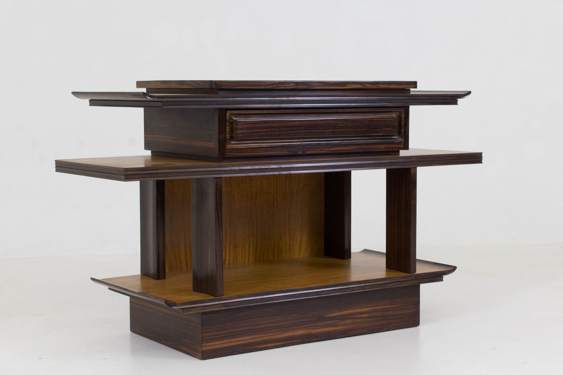 art deco console table by a h zinsmeister for gebr. Black Bedroom Furniture Sets. Home Design Ideas