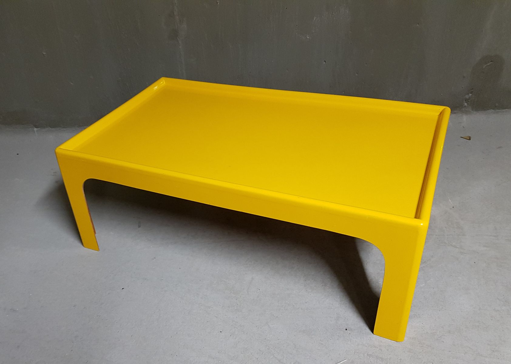 Vintage yellow fiberglass coffee table by marc held for sale at pamono vintage yellow fiberglass coffee table by marc held geotapseo Choice Image