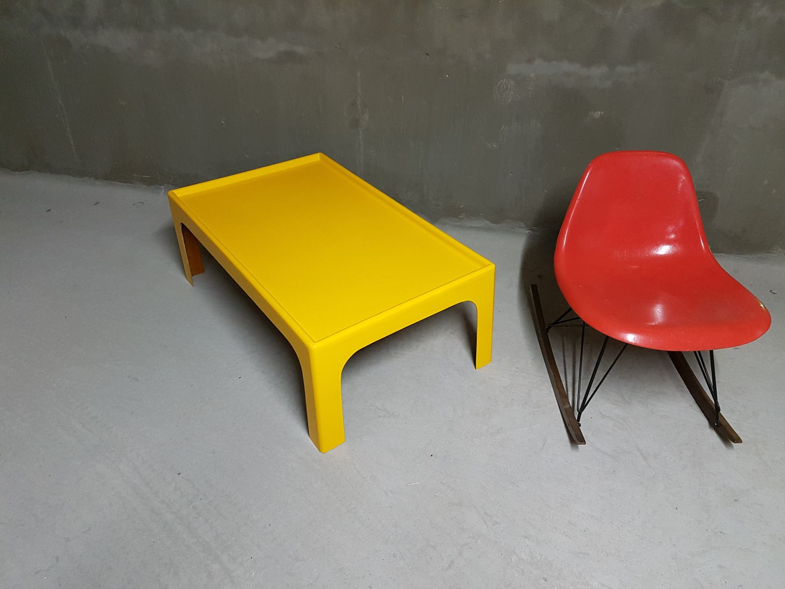 vintage yellow fiberglass coffee table by marc held for sale at pamono - price per piece