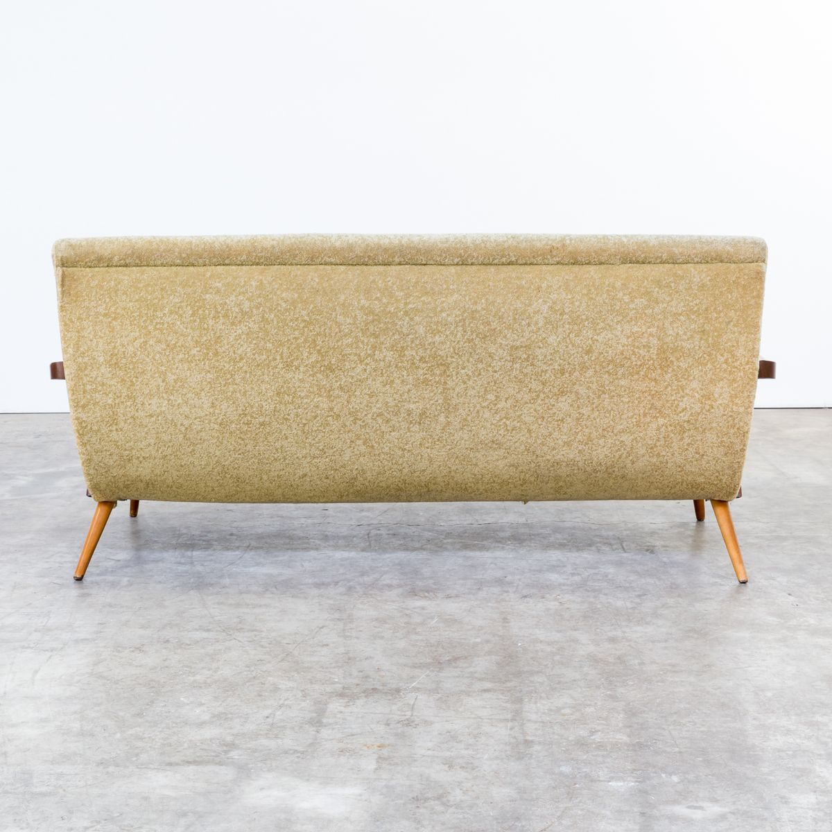 Mid Century Sofa In Teak And Fabric For Sale At Pamono