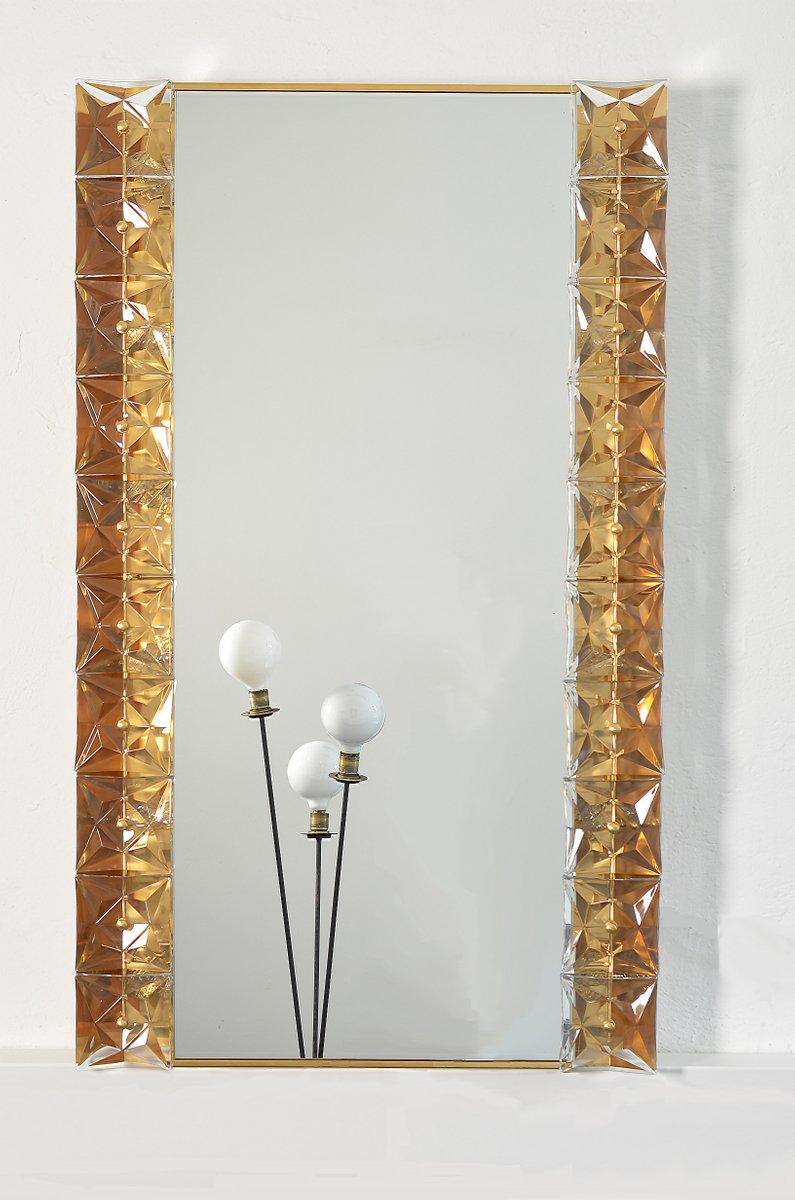 beleuchteter spiegel aus kristallglas vergoldetem. Black Bedroom Furniture Sets. Home Design Ideas