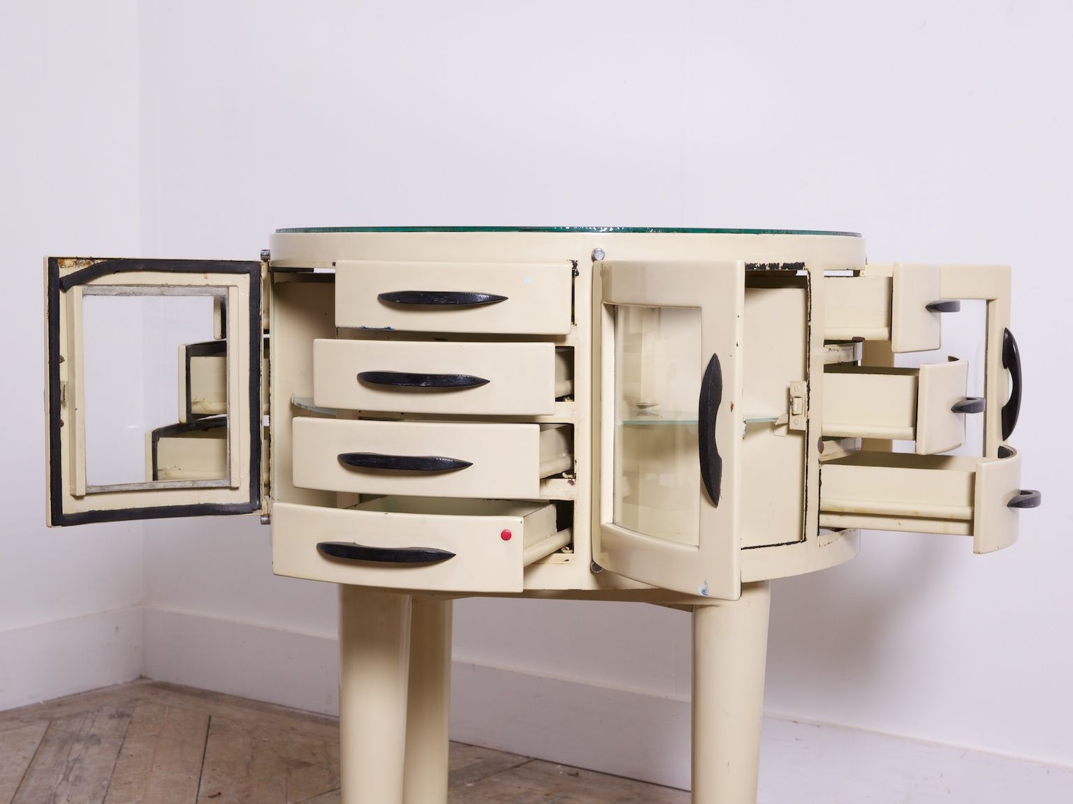 Full height mirrored cabinet another play on the rotating cabinet - Rotating Dental Cabinet From Leon Martin Paris 1950s
