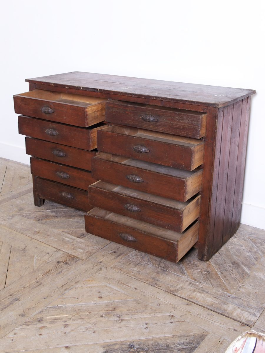 Workshop Drawer Cabinet 1900s For Sale At Pamono