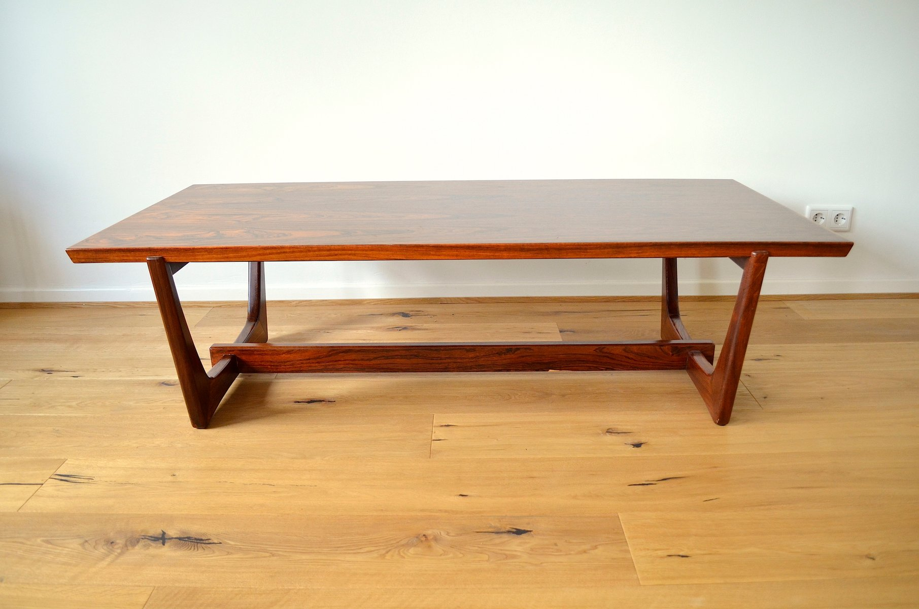 scandinavian rio rosewood veneer coffee table, 1960s for sale at