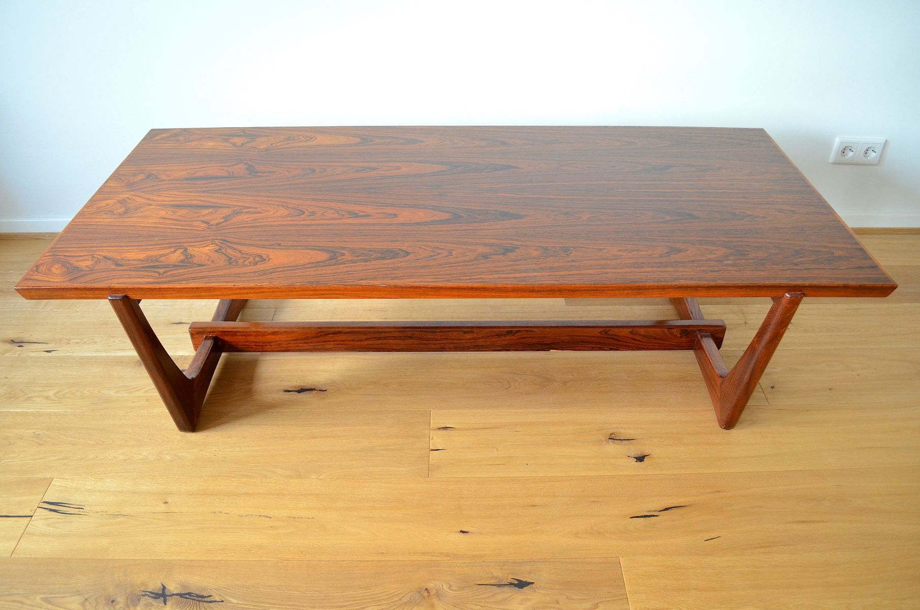Scandinavian Rio Rosewood Veneer Coffee Table 1960s for sale at