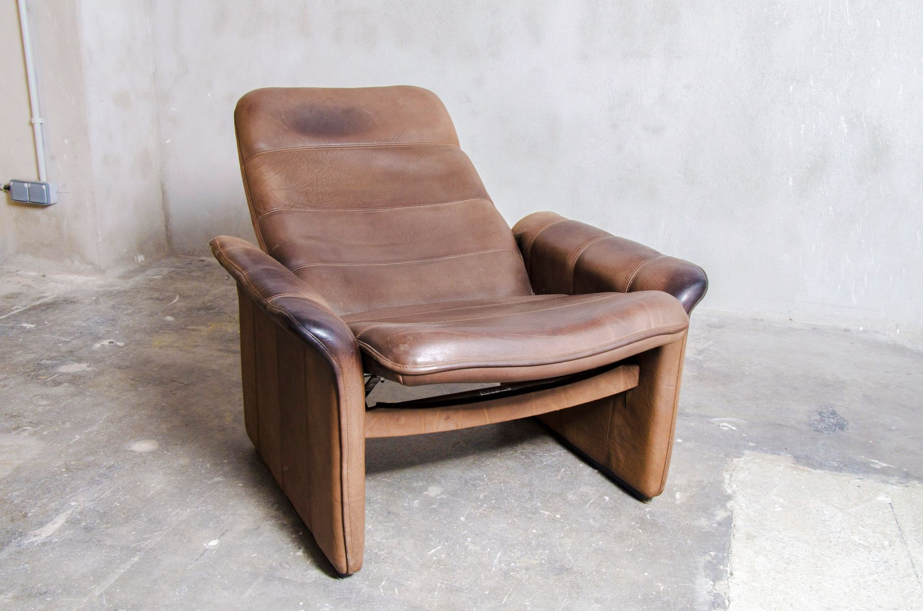 DS 50 Reclining Lounge Chair With Ottoman From De Sede, 1970s