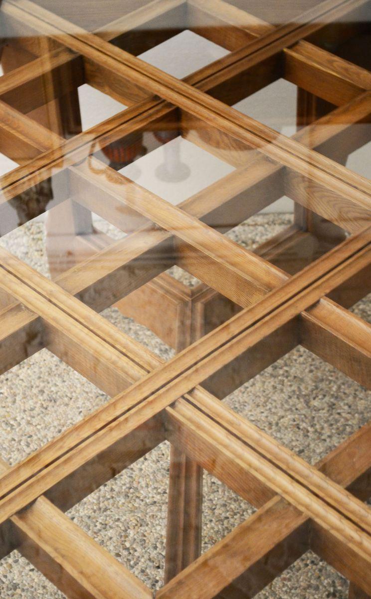 handgemachter tisch aus massiver eiche von atelier borsani 1940er bei pamono kaufen. Black Bedroom Furniture Sets. Home Design Ideas