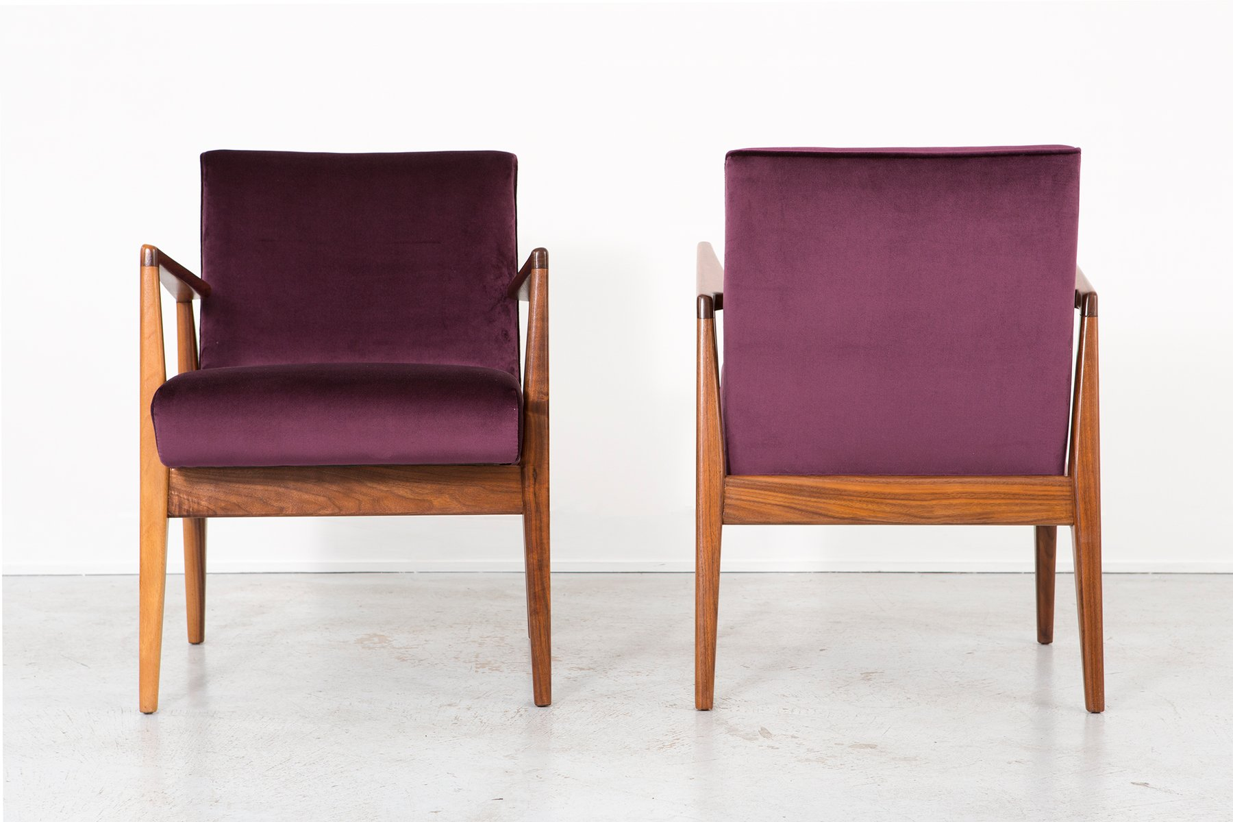 Vintage Lounge Chairs by Jens Risom Set of 2 for sale at Pamono