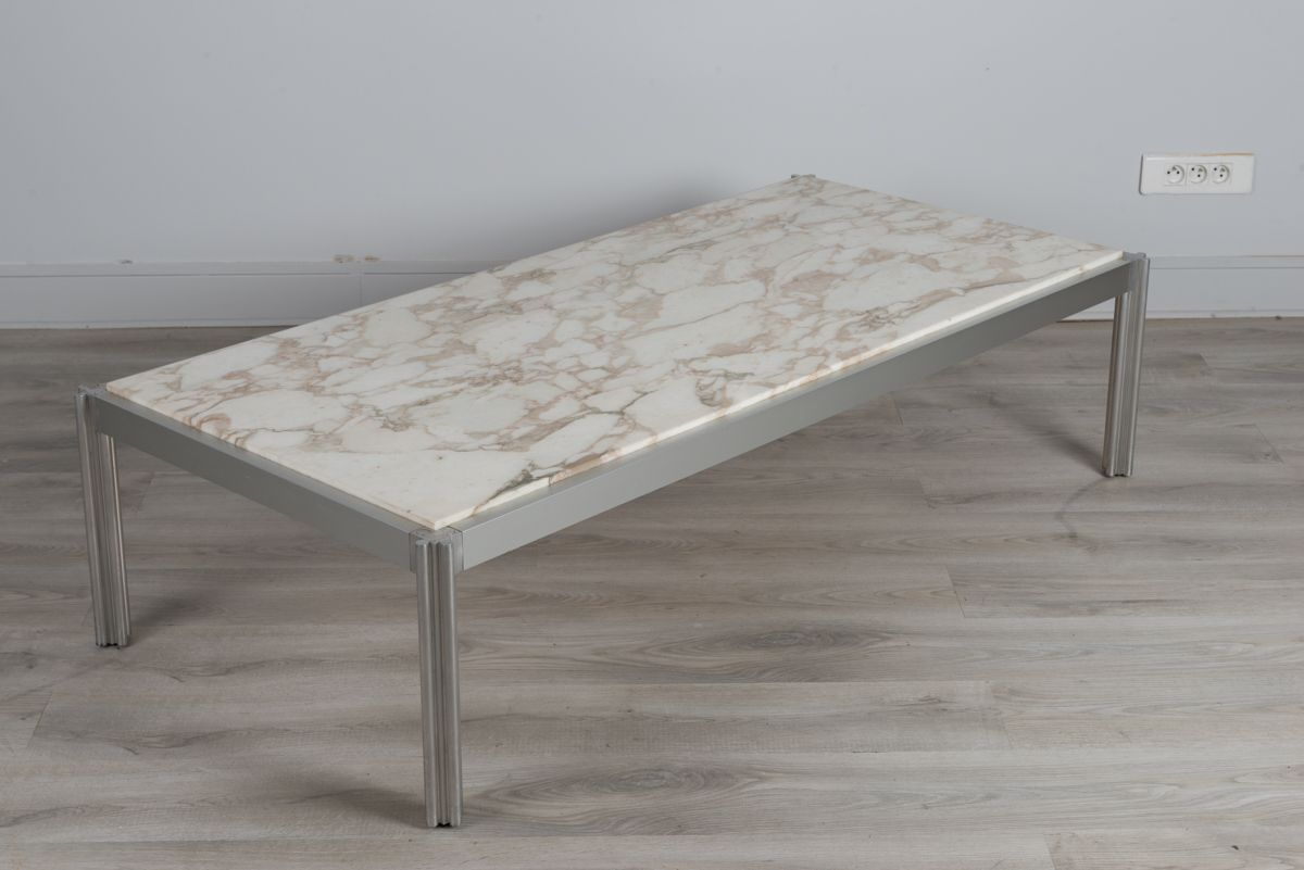 Marble coffee table by george ciancimino for mobilier for Mobilier