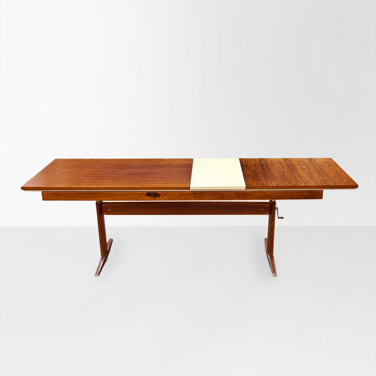 Vintage German Rosewood Folding Coffee Table From Em For