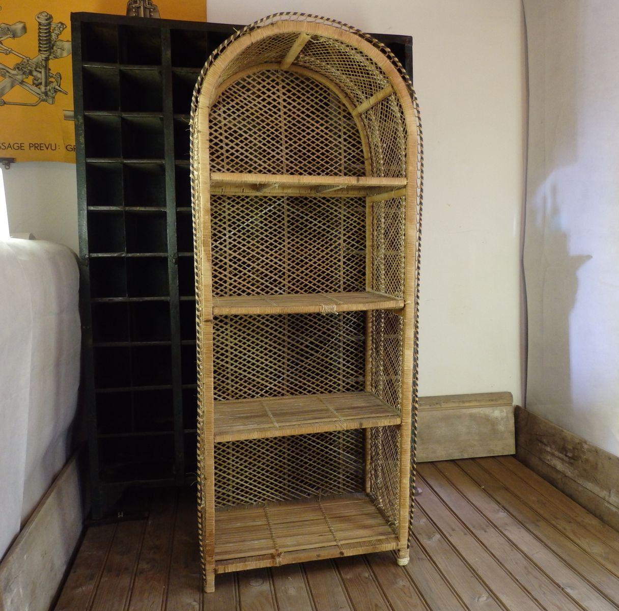 vintage regal aus rattan bei pamono kaufen. Black Bedroom Furniture Sets. Home Design Ideas