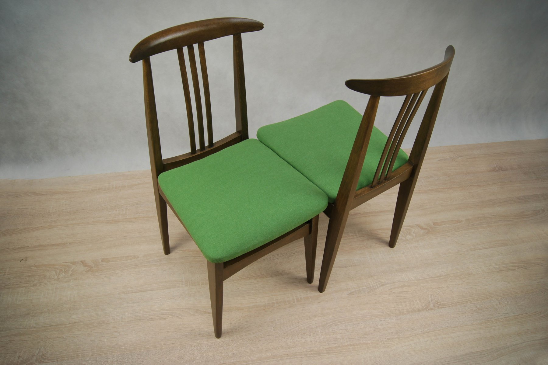 Green 200 100B Dining Chairs By M Zieli Ski 1960s Set