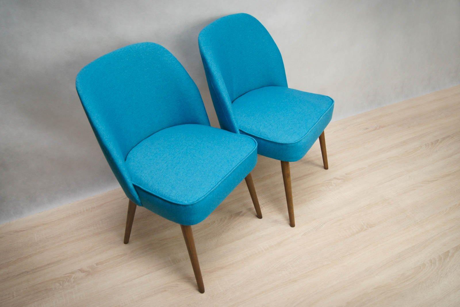 kleine blaue cocktail sessel 1960er 2er set bei pamono. Black Bedroom Furniture Sets. Home Design Ideas