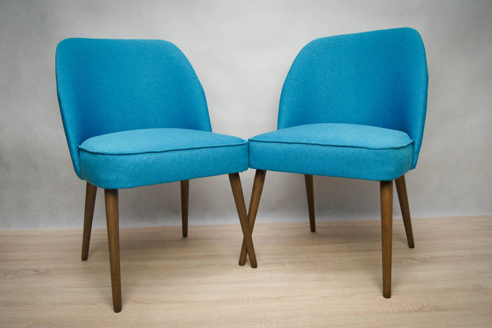 Small blue cocktail chairs 1960s set of 2 for sale at pamono for Small blue armchair