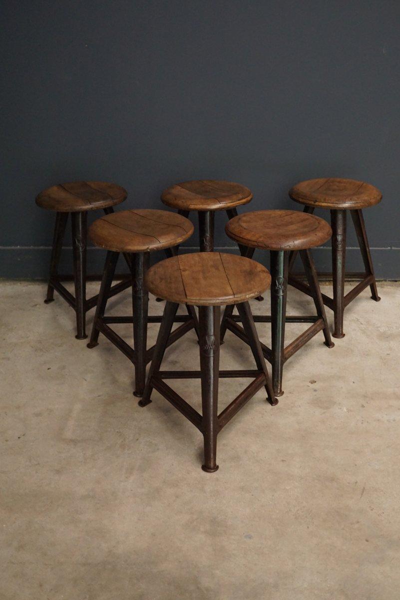 tabouret vintage en bois et m tal de rowac allemagne en vente sur pamono. Black Bedroom Furniture Sets. Home Design Ideas
