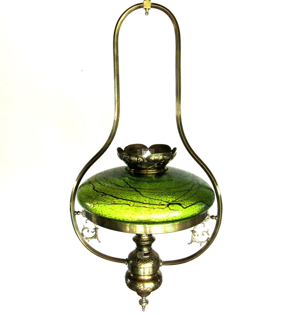 Antique austrian art nouveau lamp with glass shade for for Jugendstil lampen